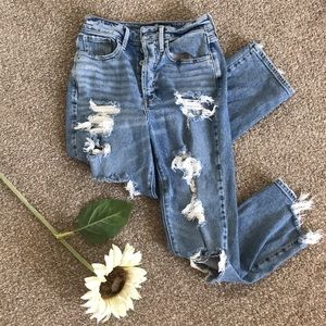 New Hollister Ripped Straight Jeans